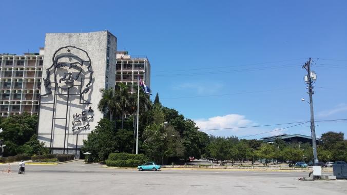 El Che en la Plaza de la Revolución